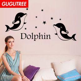 $enCountryForm.capitalKeyWord Australia - Decorate Home dolphin cartoon art wall sticker decoration Decals mural painting Removable Decor Wallpaper G-1891