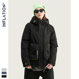 pad jacket Canada - Men Winter Hooded Cotton-padded Thick Jacket Streetwear Cotton Padded Men Parkas 2019 Collection Winter Coat 9770W