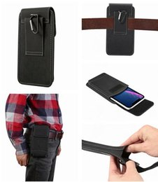 "iphone holster card slot 2019 - 4.7"" - 6.5"" Universal Clip belt Holster Hasp Cloth Case For iPhone X XR XS Max 7 6 6S Plus Samsung Galaxy S9 S"
