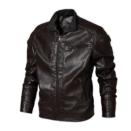 leather coats fur collars UK - leather jacket Mens Motorcycle Leather Jackets Outwear Overcoat Fur Liner Slim Fit Tops New High Quality men's leather Coats