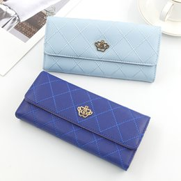 purses crown Australia - Women Coin Purses Medium Length Fund Wallet Card Holder Clutch Bag Multi Color Crown Rhombus Pattern Bags 8 7tl UU