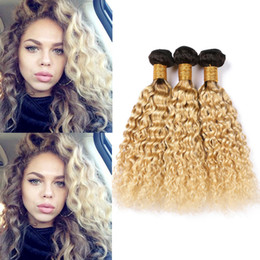 Ombre dyed weave online shopping - Wet and Wavy Blonde Ombre Brazilian Human Hair Weaves B Ombre Water Wave Virgin Hair Bundle Deals Bleach Blonde Ombre Hair Extensions