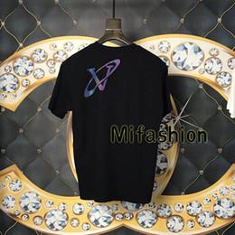 Reflective T Shirts Australia - 19ss Luxury Europe Paris Colorful Print Reflective Back Universe Tshirt Fashion Men Women T Shirt High Quality Tee