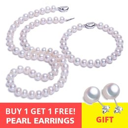 $enCountryForm.capitalKeyWord Australia - Fenasy S925 Sterling Silver Natural Freshwater Pearl Necklace For Women Pearl Jewelry Necklace Birthday Anniversary Idea Gift Y19061003