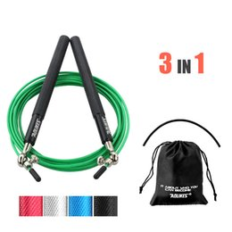 jumping equipment Australia - 6 colors 3 in 1 Adjustable Skipping Rope Speed Steel Wire Skipping Jump Rope Crossfit Crossfit Box Gome Gym Fitnesss Equipment