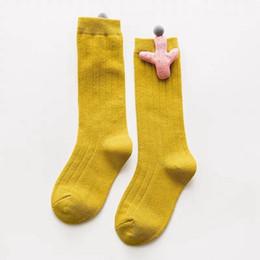 f46bd39ef5669 Kids Knee High Socks For Girls Cotton Cute Cactus Design Socks Children Baby  Long Tube Leg Warm Colorful Sock