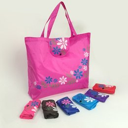 $enCountryForm.capitalKeyWord Australia - Creative Chinese style florets button fashion storage bag clasp tote bag classic 210D Oxford cloth folding shopping bag T2D5004