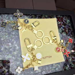 $enCountryForm.capitalKeyWord Australia - Fashion Brand letter lock metal key ring unisex letter pendant key chain bag chain men women gold key ring lover gift have box free shipping