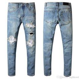 Vente en gros Pantalon de designer pour hommes Nouvelle marque de mode pour hommes Jeans de designer déchirés Stretch Slim Ouest Hip Hop Swag Jeans pour hommes