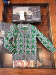 $enCountryForm.capitalKeyWord NZ - Boys sweaters kids designer clothing autumn double knit cardigan sweater star pattern design cashmere blend sweater cardigan