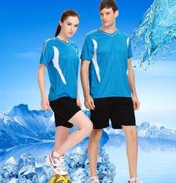 Опт Новая мужская и женская одежда для волейбола для тренировочной формы Униформа для настольного тенниса Матч костюм бесплатная доставка