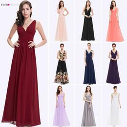 Empire Style Wedding Gowns Australia - Bridesmaid Dresses Ever Pretty 5 Style Womens Fahion A-line V-neck Elegant Long Chiffon Wedding Party Gowns J190430