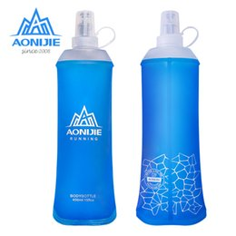 $enCountryForm.capitalKeyWord Australia - AONIJIE SD19 R450 Soft Flask Folding Collapsible 450ml Water Bottle TPU BPA Free Running Hydration Pack Waist Bag Vest Marathon