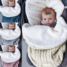 Wrap Sleeping Bag Australia - Baby Warm Swaddling Blanket Infant Stroller Sleepsack Footmuff Thick Baby Swaddle Wrap Knit Envelope Newborn Sleeping Bag DH0626 T03