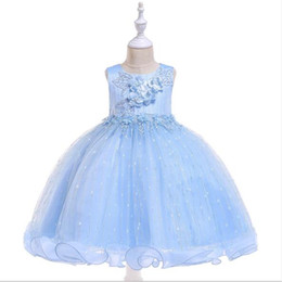 $enCountryForm.capitalKeyWord UK - 2019 New Girl Dress Flower Girl Dress Beaded Lace Applique Princess Dresses kids Elegant Party Wedding Dress First Communion Gown
