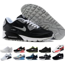 $enCountryForm.capitalKeyWord Australia - New Design 2019 Air Cushion 90 Casual Running Men Women Shoes Cheap Black White Red 90 Sneakers Classic Air90 Trainer Outdoor Sports Shoes