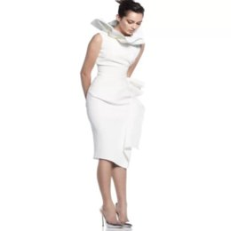 a92142878979 Women's dress new 2019 summer celebrity party white lotus leaf collar  ruffled knee-length dress sexy fashion wholes + suit
