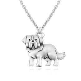 Vintage brass animals online shopping - Vintage Silver Saint St Bernard Dog Charm Pendant Stainless Steel Chain Necklace Colar Boho Chic Men Fashion Jewelry Best Gift
