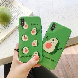 $enCountryForm.capitalKeyWord Australia - Ins avocado for 8plus iphone x mobile phone case XS Max XR iPhoneX 7p 6s silicone soft shell