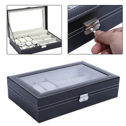 $enCountryForm.capitalKeyWord Australia - 9 Grid Slots PU Leather Watch Box Square Case Professional Holder Organizer for Clock Watches Jewelry Storage Boxes Case Display