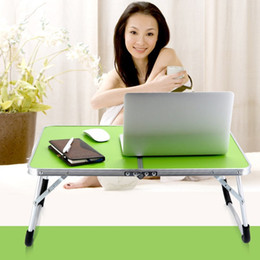 Folding Computer Tables Australia - Laptop Double-Folding Computer Table Folding Computer Desk PC Laptop Table Writing Workstation Home Office Furniture