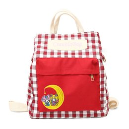 Wholesale Casual Sailor Moon Cute Back Pack Women Large Capacity Messenger Travel Shoulder Bags for Girls Students Satchel Bolsa