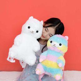 $enCountryForm.capitalKeyWord Australia - Nooer 40cm Kawaii Backpack Rainbow Alpaca Soft Doll Plush Shoulder Bag Birthday Children Kids Girls Gift Q190604