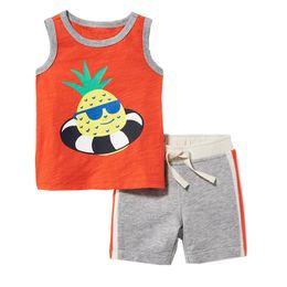 $enCountryForm.capitalKeyWord NZ - baby boy clothing set cartoon printing cotton tantop shorts for kids boy and girls children summer clothing wholesale