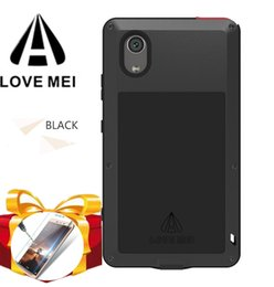 love mei cover Australia - Glass film gift) LOVE MEI Water Resistant Shock-Proof Metal Armor silicon Cover Case for Sony Xperia XA1 Plus G3412 G3421 G3416