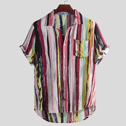 $enCountryForm.capitalKeyWord UK - 2019 Men's Short Sleeve top TShirt Multi Color Lump Chest Pocket Short Sleeve Round Hem Loose Shirts Shop owner recommended