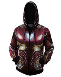 China 2019 New Marvel Avengers Endgame Quantum Realm War 3D Printed Iron Man Captain America Hoodies Unisex Women Men Pullovers Tops A344 suppliers