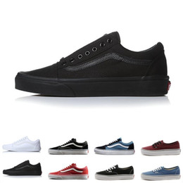 d356a3ab76 Brand Vans Old Skool For Men Women Casual Shoes Canvas Sneakers Black White  Red Blue Fashion Cheap Sport Skateboard Shoe Size 36-44