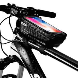 $enCountryForm.capitalKeyWord Australia - New fashion Hard shell bicycle Handle Bar Bags front tube bag waterproof mobile phone bag saddle bag riding equipment for mountain bike