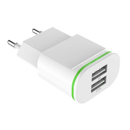 2 Port 5V 2.1A Dual USB Charger LED verde iPhone Luz Para 11 Pro Max Travel Recados Carregar o iPhone Para Adapter X XS Max XR 8 Plus 7 6 6S