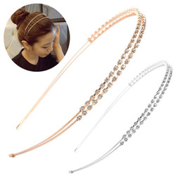 $enCountryForm.capitalKeyWord Australia - hair accessories 1PC Fashion Gold and Silver Hairband Elegant Ladies Girls Crystal Rhinestone Pearl Headband Head Piece Hair Accessories