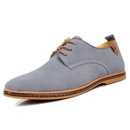 $enCountryForm.capitalKeyWord Australia - top quality Men Dress Shoes Cow Suede Formal Oxfords Fashion Casual Business Suit Office Leather Shoes Red Blue Wedding Shoes