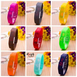 $enCountryForm.capitalKeyWord Australia - Colorful Waterproof Soft Led Touch Watch Jelly Candy Silicone Rubber Digital Screen Bracelet Watches Men Women Unisex Sports Wristwatch
