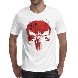 $enCountryForm.capitalKeyWord NZ - Red blood pop punisher Mens T Shirts Retro Beach Cotton Round Neck Shirts Macho T Shirt Vintage T Shirts for Man