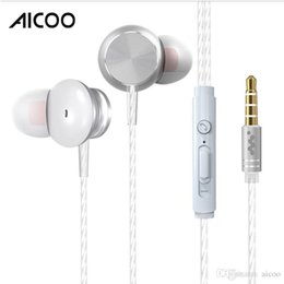 $enCountryForm.capitalKeyWord Australia - Aicoo Metal Wired In-Ear Earphones Headphone with Mic Remote Stereo 3.5MM HIFI Headset for iPhone Samsung Smartphone with retail package
