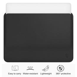 Sac en cuir WiWU PU pour MacBook Pro 13 housse ultra-mince pour ordinateur portable pour MacBook Pro 15 Étui résistant à l'eau en Solde