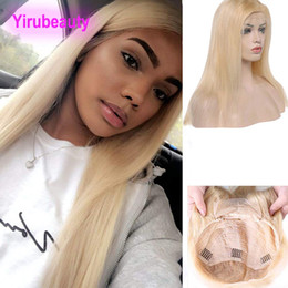 Blonde virgin hair lace front online shopping - Malaysian Human Hair A Lace Front Wig Color Blonde Silky Straight Virgin Hair Lace Front Wig Blonde inch