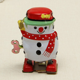 Old Tin Toys Australia - Adult Collection Retro Wind up Metal Tin The Snowman Mechanical toy Clockwork toy figures model kids christmas gift