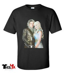 $enCountryForm.capitalKeyWord Australia - Game Of Thrones T shirt Fire And Ice Jon Snow and Daenerys Mother Of Dragons Tee