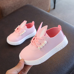$enCountryForm.capitalKeyWord NZ - 2019 New Children Toddler Little Girls Kids Sneakers For 1-3 Years Old Girls Fashion Cute Pearl Rabbit Ear Casual Shoes