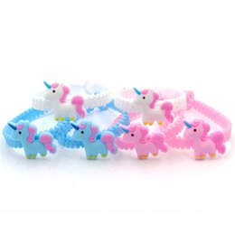 mexican toys NZ - Pawliss Emoji Bracelets Wristband Unicorn Birthday Party Favors Supplies for Kids Girls Emoticon Toys Prizes Gifts Rubber Band DHL MFJ562