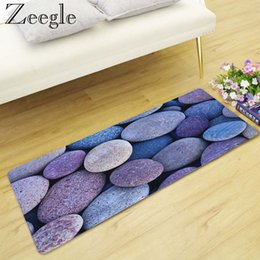 $enCountryForm.capitalKeyWord Australia - Zeegle 3D Stone Printed Long Bedroom Carpet Anti-slip Kitchen Mats Home Decoration Non-slip Floor Mat Soft Foot Rug