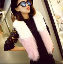 $enCountryForm.capitalKeyWord Australia - 2019 Vetement Winter Women's Coat Faux Fox Fur Vest Patchwork Mongolia Sheep Vest Oversize Fur Coat Furry Short Overcoat AW148