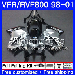 honda vfr interceptor fairings Australia - Body For HONDA Interceptor VFR800R VFR800 1998 1999 2000 2001 259HM.43 VFR 800RR VFR 800 RR Repsol silver VFR800RR 98 99 00 01 Fairing kit