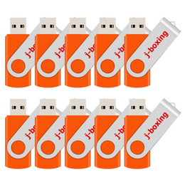 4gb flash drive wholesale Australia - Orange Bulk 10PCS Metal Rotating USB 2.0 Flash Drive Pen Drive Thumb Memory Stick 64M 128M 256M 512M 1G 2G 4G 8G 16G 32G for PC Laptop Mac