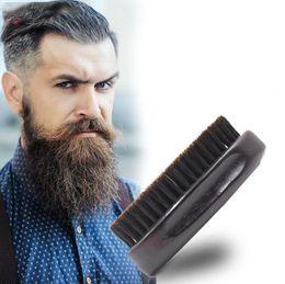Vente en gros hommes barbe brosse poils rasage peigne massage du visage moustache brosse soin de beauté l hommes moustache peigne outil de rasage LJJK1606